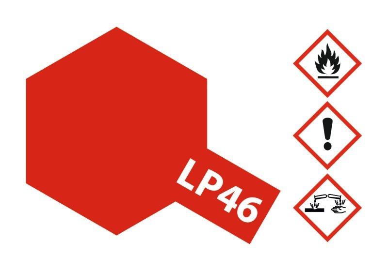 LP-46 Pur Metallic Rot glänzend Kunstharzfarbe 10ml