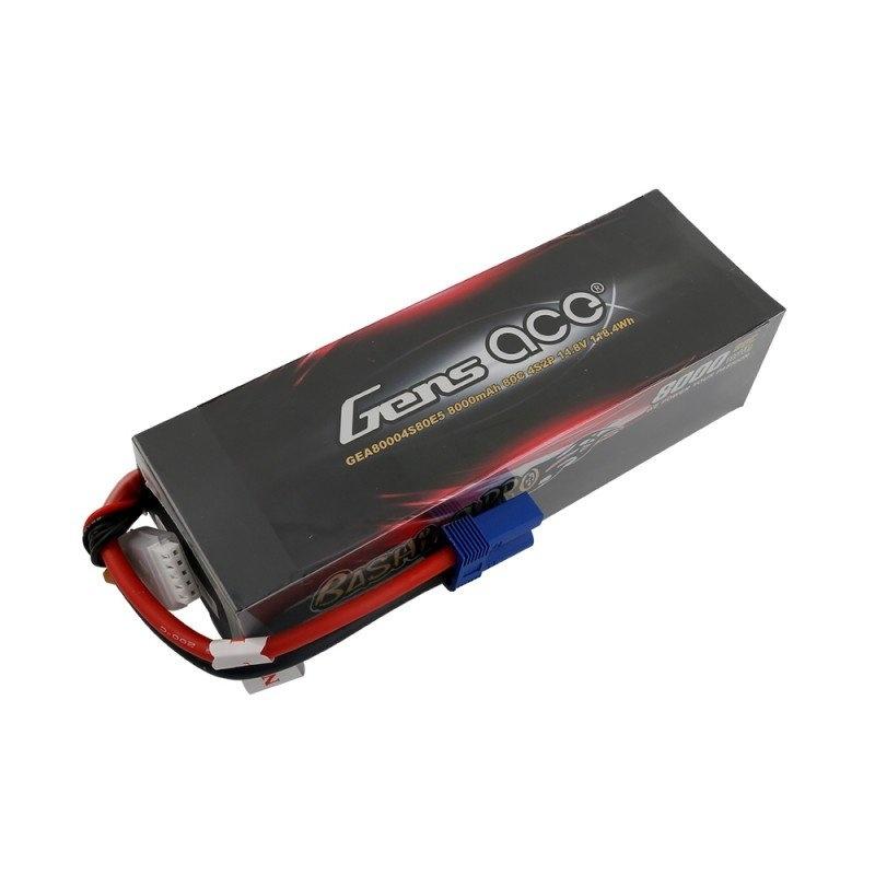 Bashing LiPo Akku 8000mAh 14.8V 4S2P 80C mit EC5-Stecker