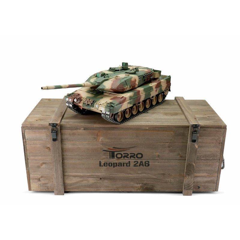 RC Panzer 1/16 Leopard 2A6 Pro-Edition Wüstentarn 2,4GHz RTR