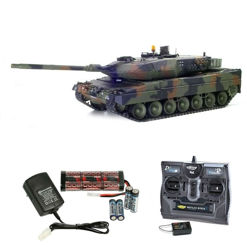 LEOPARD 2 A6 1/16 Panzer Full Option 2,4GHz Komplettset