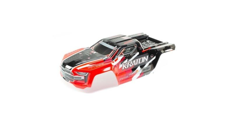 Karosserie lackiert mit Aufklebern für Kraton 6S BLX, rot