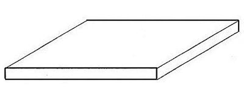 Weiße Polystyrolplatte, Set mit 3 Stück