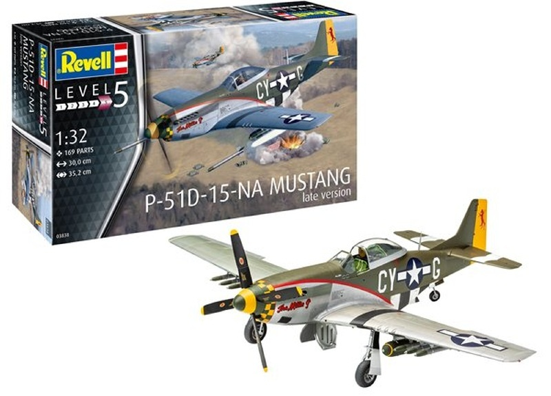 P-51D Mustang (late version) 352mm Jagdflugzeug 1:32 Bausatz