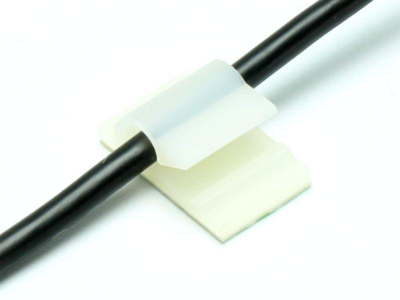 Kabelhalter Clip 5mm, selbstklebend (10)