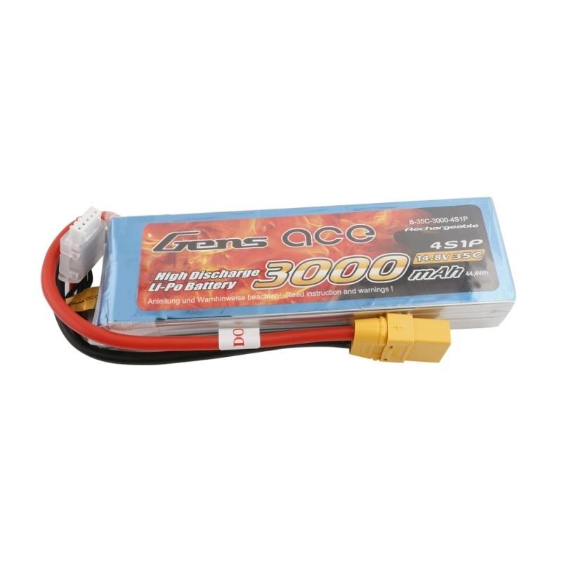 LiPo Akku 3000mAh 4S1P 14,8V 35C mit XT90 Stecker