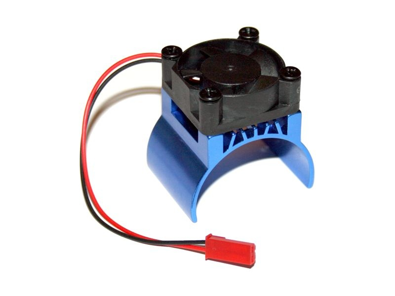 Motorkühlkörper Top mit Brushless Lüfter- 5-9 VDC 540er blau