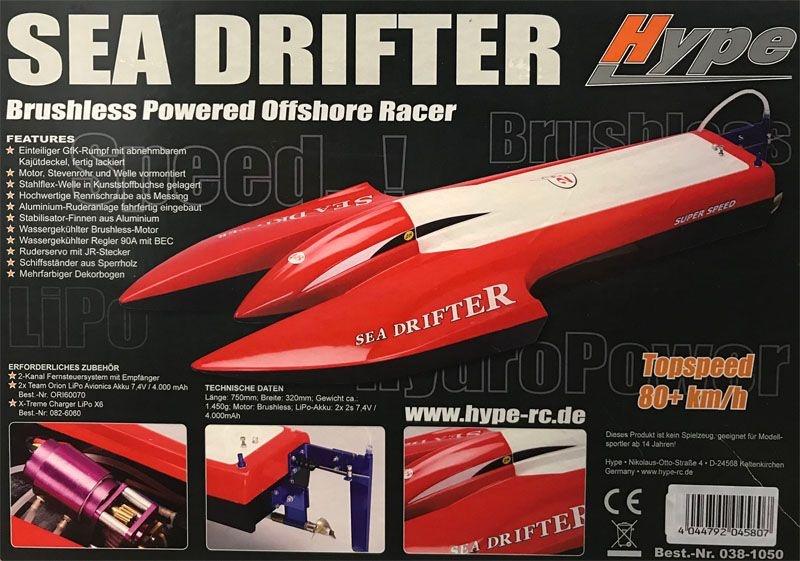 Sea Drifter Brushless Powered Offshore Racer
