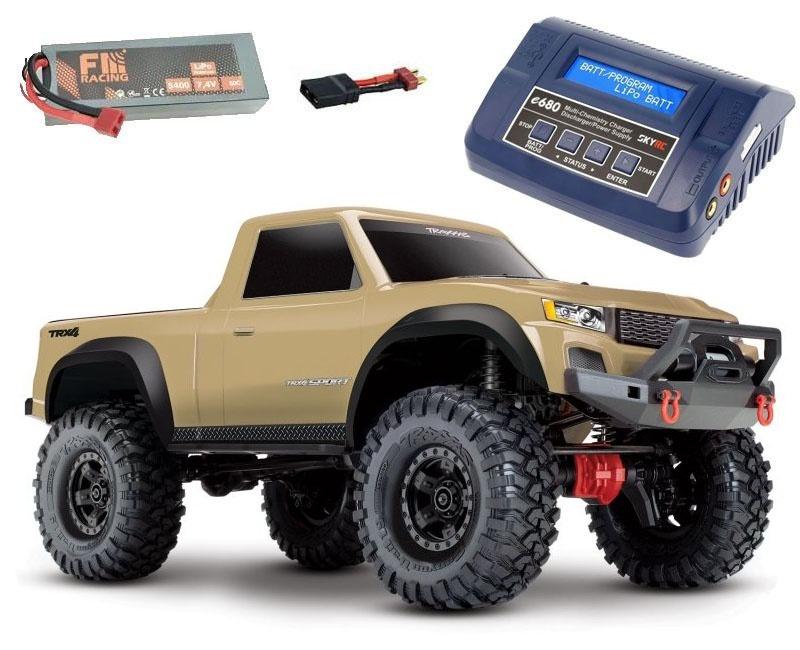 TRX-4 Sport - 1/10 Scale Crawler Tan/Sand + 6200 Lipo+ Lader