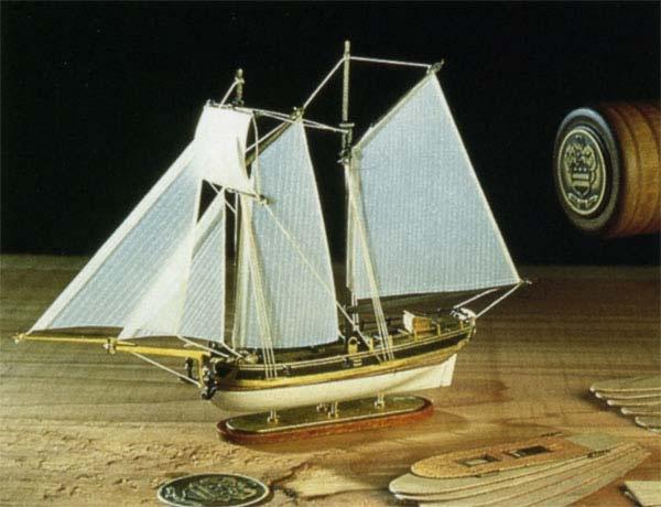 Flaschenschiff Hannah 1:300 Baukasten