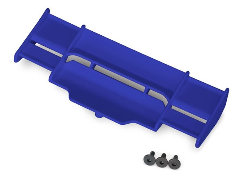 Heckflügel in blau für Rustler 4x4