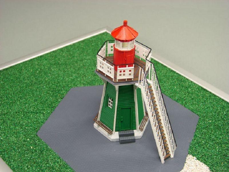 Leuchtturm Bunthauser Spitze Laser Kartonbausatz