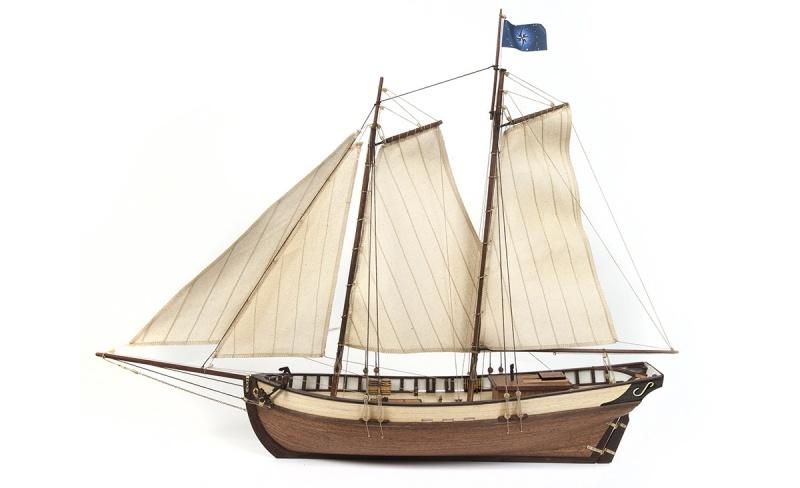 Polaris (Mit Segel Satz) Segelschiff Bausatz 1:50