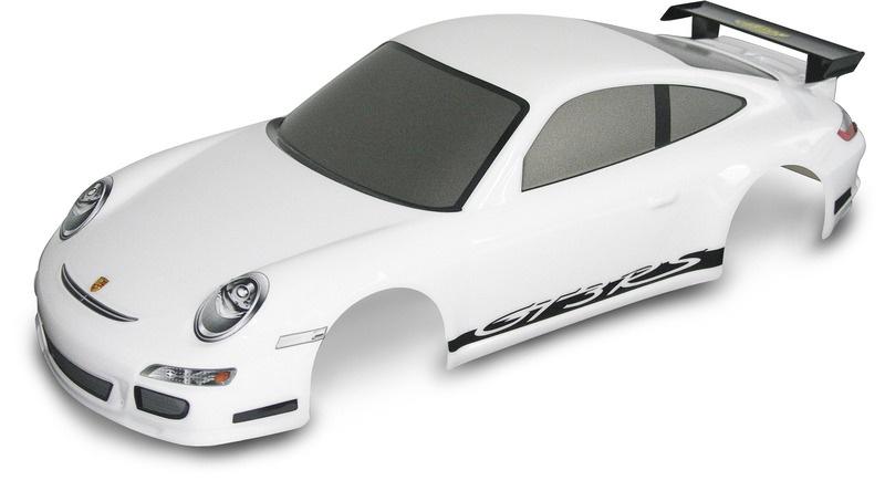 1:10 Kaross. Porsche 911 GT3 weiß+Dekor