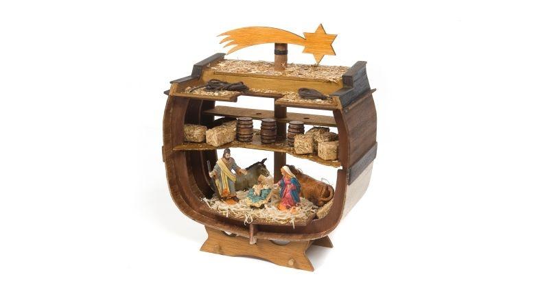 Nautische Weihnachtskrippe Bethlehem Holz Bausatz