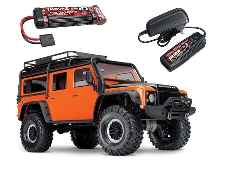 TRX-4 Land Rover Defender Crawler orange 4WD +Akku,Lader