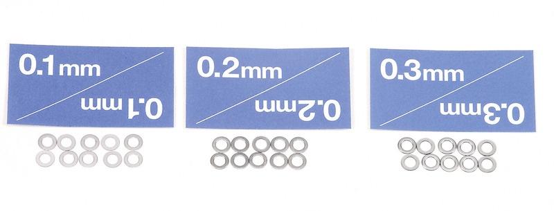 Distanzscheiben Set 3mm Passscheiben 30 Stück 0,1 0,2 0,3mm