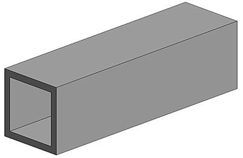 Quadrat-Rohr, 6,3 x 350 mm (2)