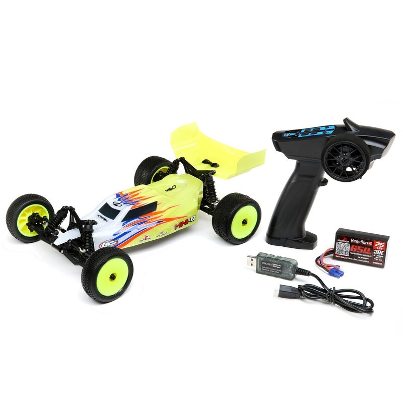 Mini-B 2WD Buggy 1:16 Brushed 2,4GHz RTR, gelb/weiß