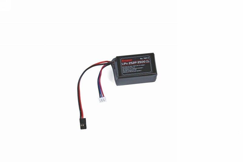 Empfängerakku LiPo 2S2P/2500 Hump JR-Stecker