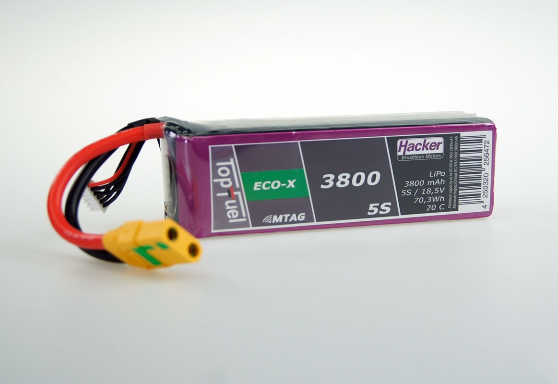 TopFuel LiPo Akku 20C ECO-X 3800mAh 5S MTAG, XT90/AS