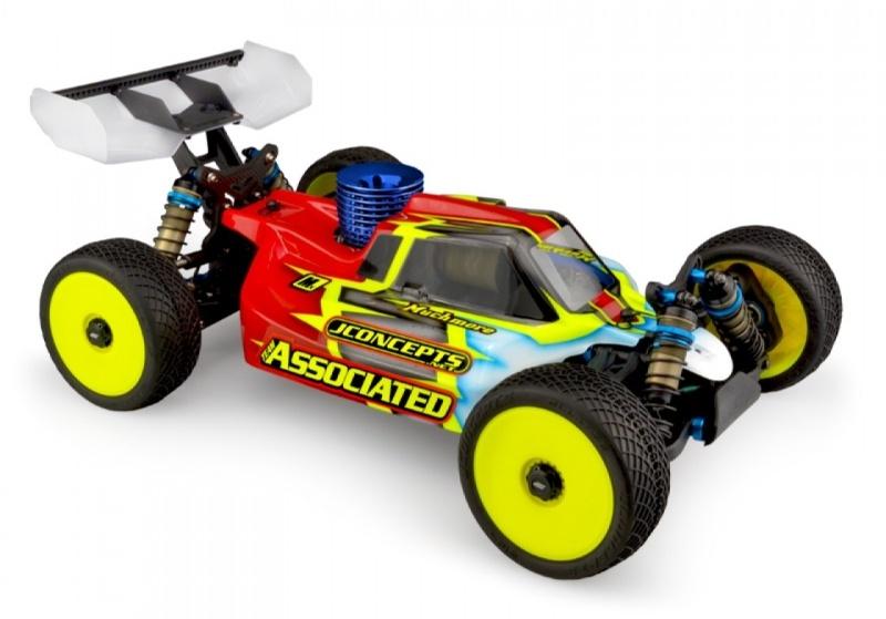 Silencer Karosserie (klar) für 1/8 Buggy RC8B3.1