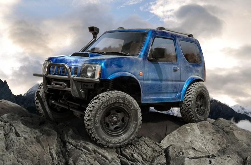 CMX J3 4x4 Offroad Crawler 1:10, 242mm Radstand, RTR, blau