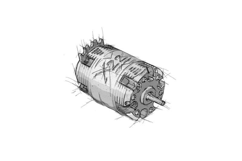 X22 Modified 9.5T Brushlessmotor sensored