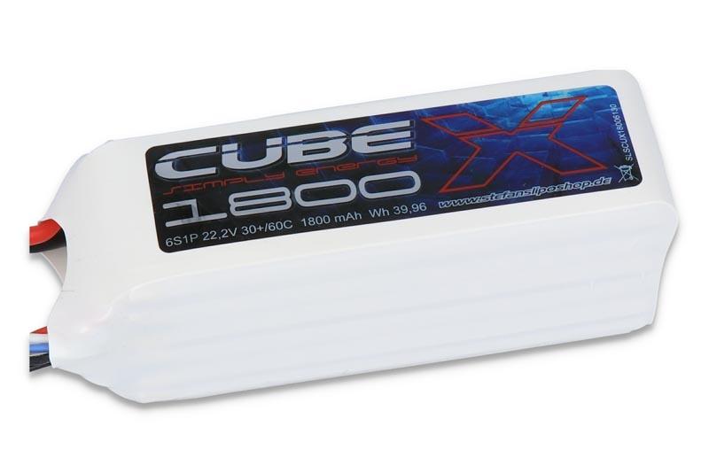 X-CUBE 1800mAh 6S1P 22,2V 30C/60C