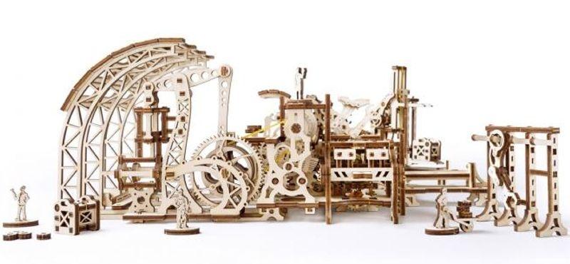 Roboterfabrik - mechanischer 3D Holzbausatz