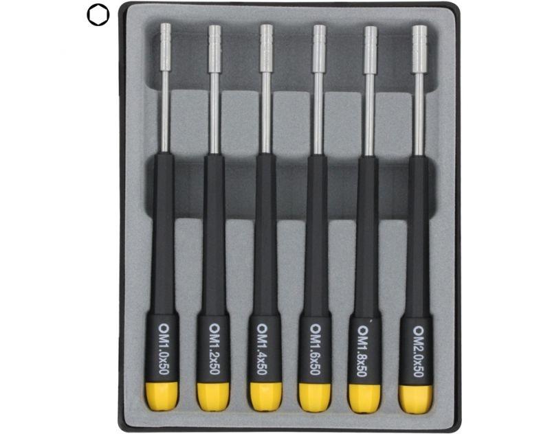 Innensechskant-Steckschlüsselset 6-teilig, 2-4mm