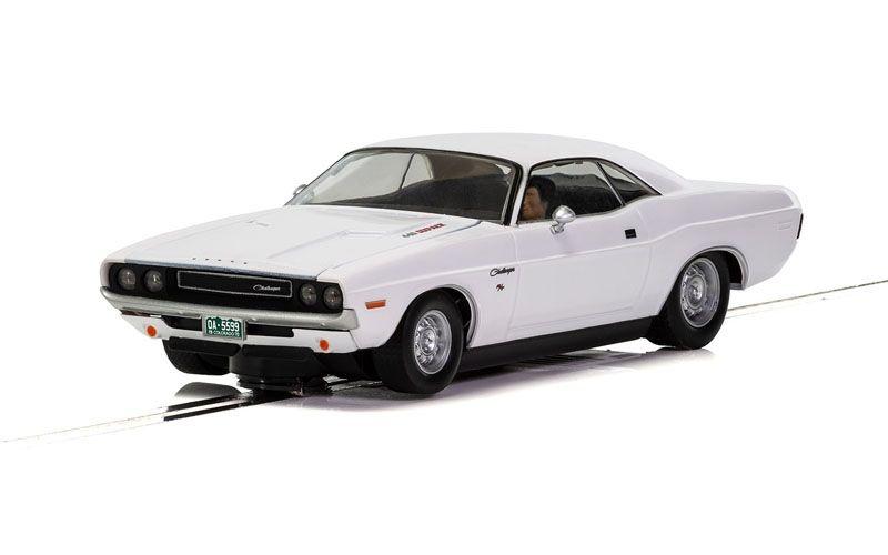 1:32 Dodge Challenger 1970 Weiss HD Slotcar
