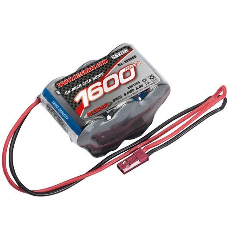 XTEC RX Hump-Pack 2/3A NiMH - BEC - 6.0V - 1600mAh