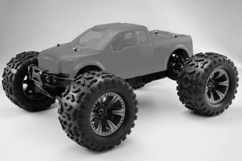 Hyper Monster Truck 1/8 Brushless Roller klare Karo 80% ARR