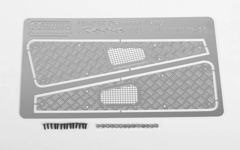 Diamond Plate Fender Covers - Abdeckung für Fender TRX-4