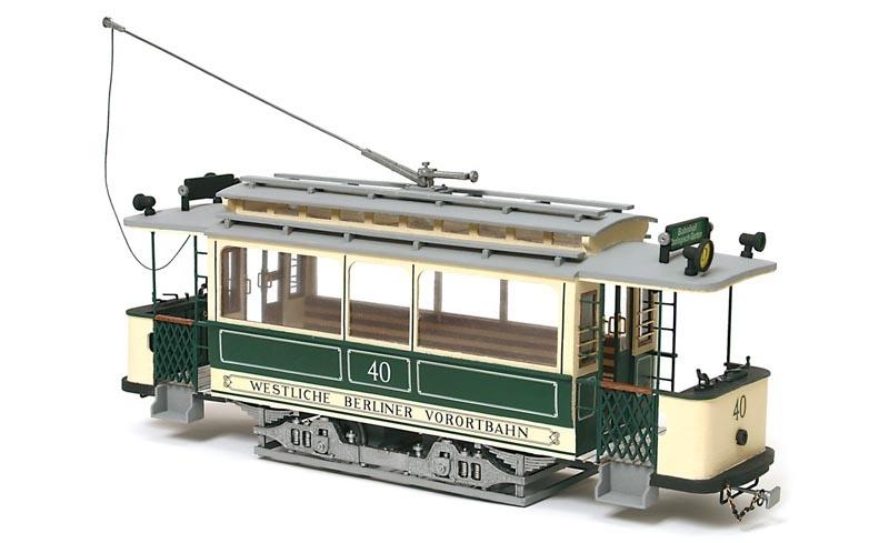 Berliner Tram 1:24 Straßenbahn Bausatz
