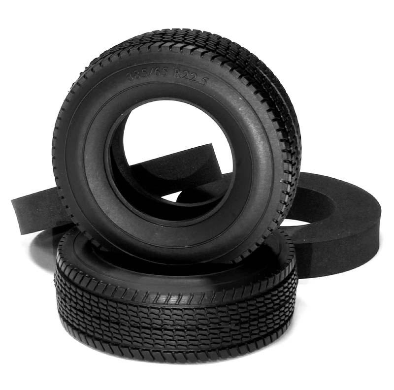 All Terrain Reifen 27mm mit Einlage  für Tamiya 1/14 Truck