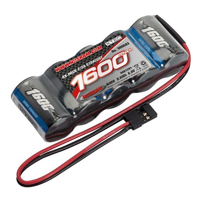 XTEC RX Stick-Pack 2/3A NiMH - BEC - 6.0V - 1600mAh