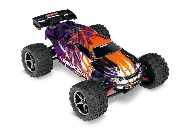 E-Revo VXL purple 1/16 RTR 2.4GHz +TSM + 12V-Lader, Akku