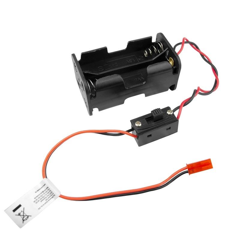 Batterie Box 4 x AA JST BEC mit Schalter