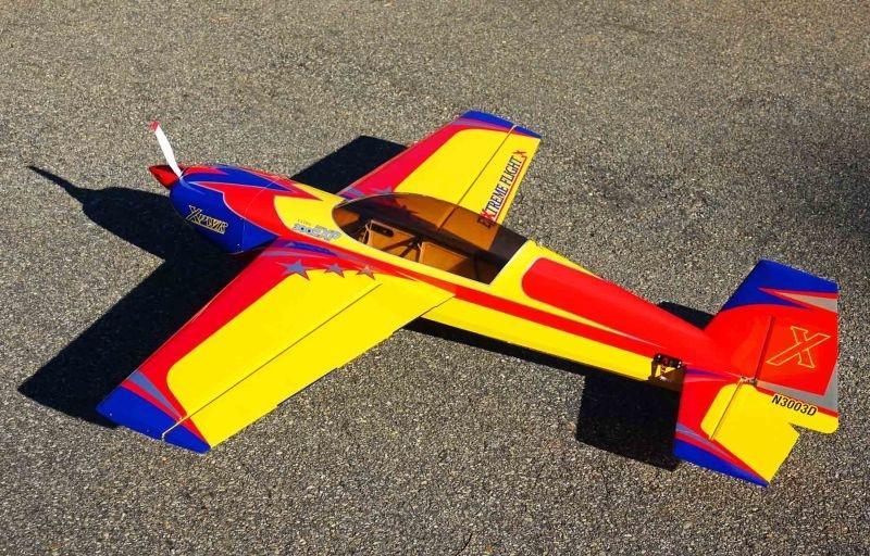 Extra 300 EXP V2 60 - 1524mm Flugmodell ARF, rot/gelb/blau