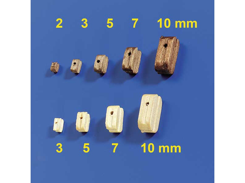 Blöcke Nussbaum 3mm (100 Stück)