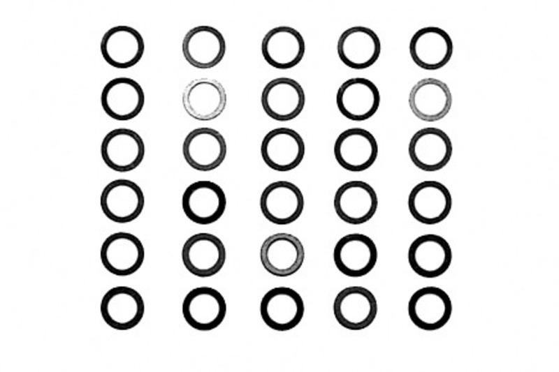Distanzscheiben Set 4mm Passscheiben 30 Stück 0,1 0,2 0,3mm