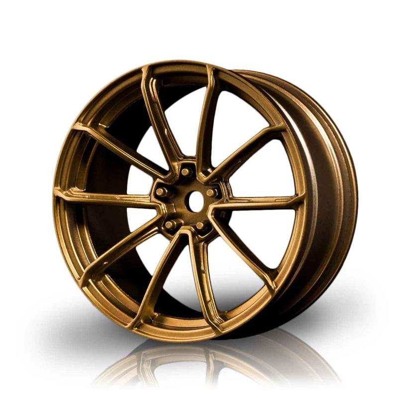 Drift Felge GTR +3mm Offset, 1/10, 12mm Hex, gold (4 Stück)