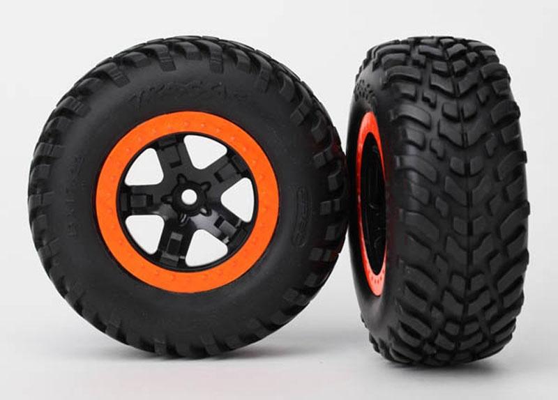Reifen+Felge montiert (2) Slash vo schw/orange Beadlock