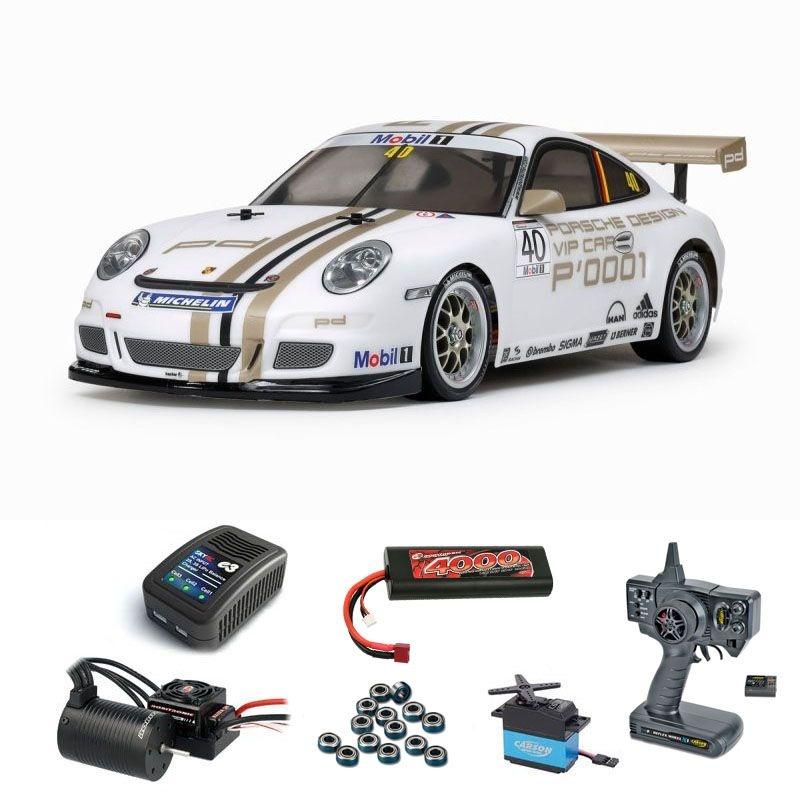 Porsche 911 GT3 Cup VIP 08 4WD 1/10 TT-01E Brushless Set