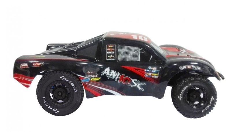 AM10SC V3 1/10 4WD Short Course Brushless 100% RTR in rot