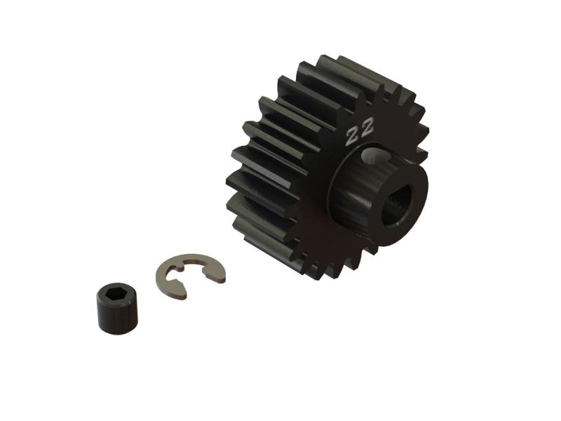 Stahl Motorritzel 22T, Modul 1 (5mm Welle) für Kraton 8S