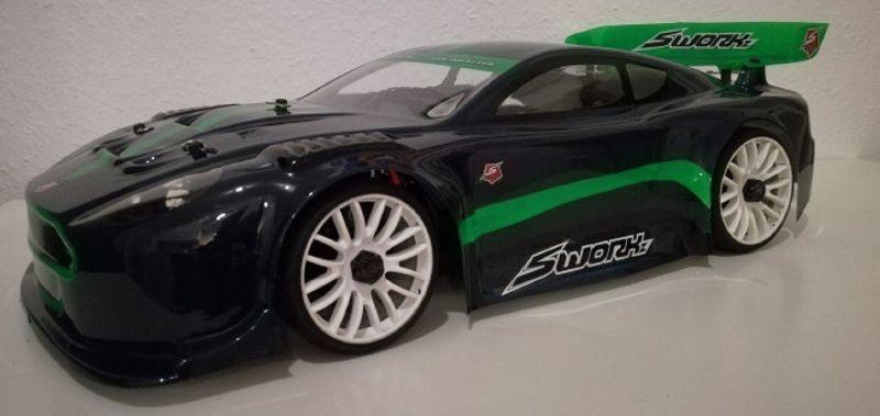 GT 4000 Light 1/8 GT Karosserie komplett inkl. Dekorbogen