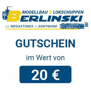 Modellbau Berlinski Geschenkgutschein 20 EUR