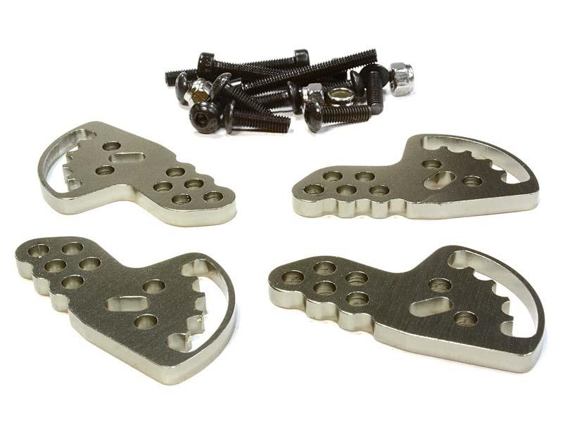 einstellbare Stoßdämpfer-Halteplatten (4) für Axial SCX-10